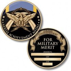 Air Force Aerial Achievement Medal Coin - Engravable