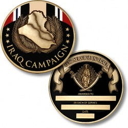 Iraq Campaign Medal Coin - Engravable