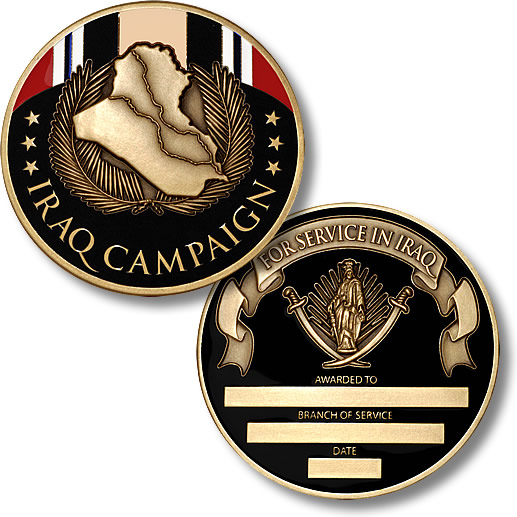 Iraq Campaign Medal Coin Engravable