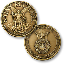 Saint Michael - USAF Security Bronze Antique