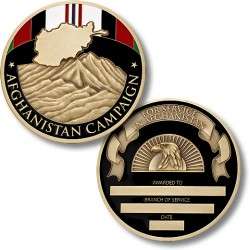 Afghanistan Campaign Service Medal Coin - Engravable