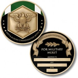 Navy and Marine Commendation Service Medal Coin - Engravable