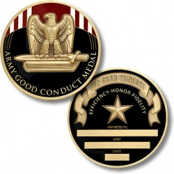 Army Good Conduct Service Medal Coin - Engravable