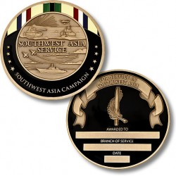 Southwest Asia Campaign Service Medal Coin - Engravable