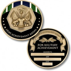 Army Achievement Medal Coin - Engravable