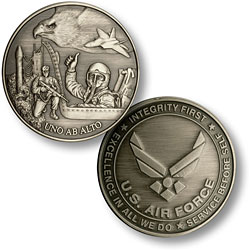 Air Force Emblem and Theme Nickel Antique
