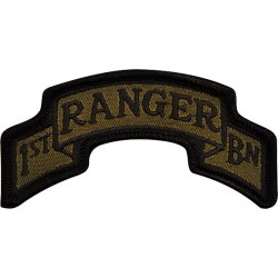 U.S. Army Patch - 1st Ranger Batallion 75th Infantry Scroll (pair)
