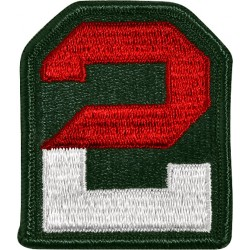U.S. Army Patch - Second Army - Color (pair)
