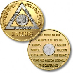 24 Hours - AA Proof-like Bronze With Nickel Bi-Plating - 1½""