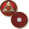 24 Hours - AA Proof-like Bronze with Tri-Plate - Gold, Nickel, and Red Enamel - 1 1/2""
