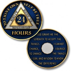 24 Hours - AA Proof-like Bronze With Blue Enamel - 1½""
