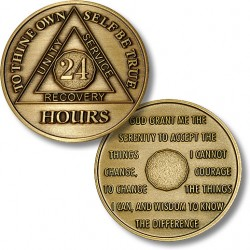 24 Hours - AA Antique Bronze - 1½""