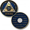 24 Hours - AA Proof-like Bronze with Tri-Plate - Gold, Nickel, and Blue Enamel - 1⅜""