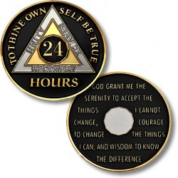 24 Hours - AA Proof-like Bronze With Black Enamel - 1⅜""