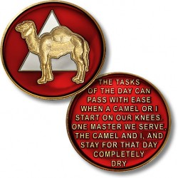 AA Camel - Proof-like Bronze With Red Enamel