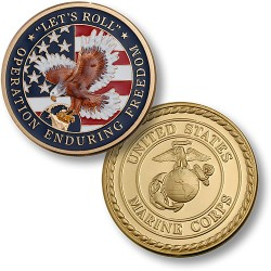 "Enduring Freedom - Marines 1 7/8"" MerlinGold®"