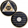14 Year - AA Proof-like Bronze with Tri-Plate - Gold, Nickel, and Blue Enamel - 1⅜""