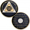 21 Year - AA Proof-like Bronze with Tri-Plate - Gold, Nickel, and Blue Enamel - 1⅜""