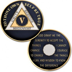 5 Year - AA Proof-Like Bronze Tri-Plate – Gold, Nickel, and Blue Enamel - 1 1/2""