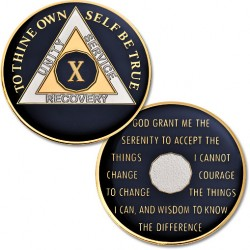 10 Year - AA Proof-Like Bronze Tri-Plate � Gold, Nickel, and Blue Enamel - 1 1/2""