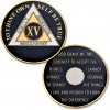15 Year - AA Proof-Like Bronze Tri-Plate – Gold, Nickel, and Blue Enamel - 1 1/2""