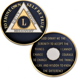 50 Year - AA Proof-Like Bronze Tri-Plate - Gold, Nickel, and Blue Enamel - 1 1/2""