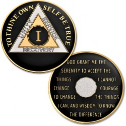 1 Year - AA Proof-Like Bronze Tri-Plate – Gold, Nickel, and Black Enamel - 1⅜""