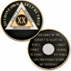 20 Year - AA Proof-Like Bronze Tri-Plate – Gold, Nickel, and Black Enamel - 1⅜""