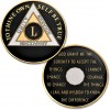 50 Year - AA Proof-Like Bronze Tri-Plate – Gold, Nickel, and Black Enamel - 1⅜""