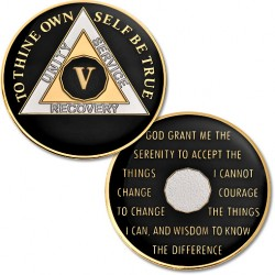 5 Year - AA Proof-Like Bronze with Tri-Plate - Gold, Nickel, and Black Enamel - 1 1/2""
