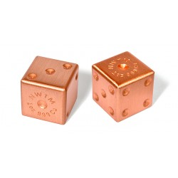 1 Pair Pure Copper Dice - 1 Oz Ea.