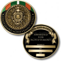 Coast Guard Achievement Medal Coin - Engravable