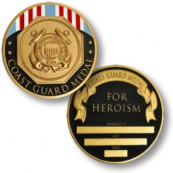 Coast Guard Medal - Engravable