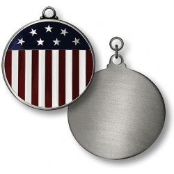 Stars and Stripes Flag Engravable Pet Tag -- .825 inches