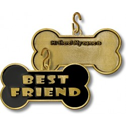 Best Friend Engravable Pet Tag