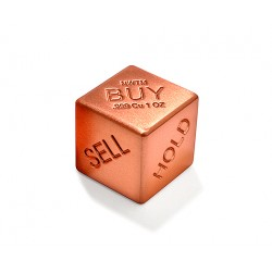 Buy, Sell, Hold - 1 Solid Pure Copper Die - 1 Oz