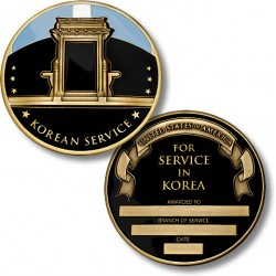 Korean Service Medal Coin - Engravable