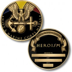 Navy and Marine Corps Medal Coin - Engravable