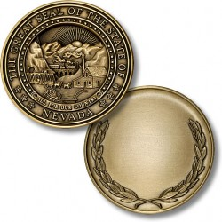 Nevada State Seal Coin with Wreath Reverse