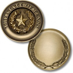 Texas State Seal Coin with Wreath Reverse