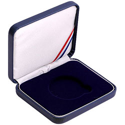 "Leatherette Presentation Box for 1 1/2"" (39mm) coin - Blue"