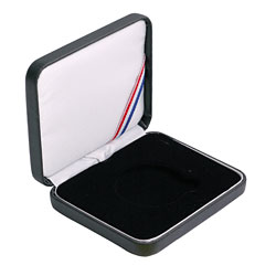 "Leatherette Presentation Box for a 1 1/2"" (39mm) coin - Black"
