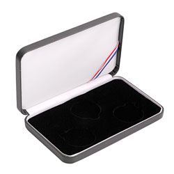 3 Coin Set - Leatherette Presentation Box - Black