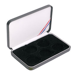5 Coin Set - Leatherette Presentation Box - Black