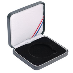 "1 7/8"" Leatherette Presentation Box - Black"