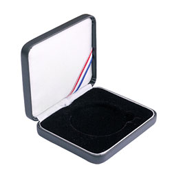 "2"" Leatherette Presentation Box - Black"