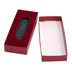 Small Lockback Knife Box with Foam Incasing - Burgundy