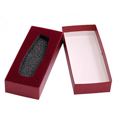 Large Lockback Knife Box with Foam Incasing - Burgundy