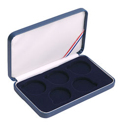 5 Coin Set - Leatherette Presentation Box - Blue