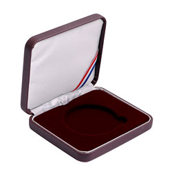 "1 7/8"" Leatherette Presentation Box - Burgundy"